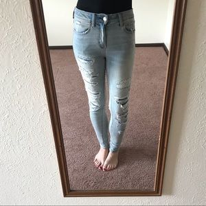 AE Ne(x)t Level High-waisted Distressed Jegging